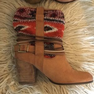 Steve Madden Shoes - Tribal accent leather ankle bootie